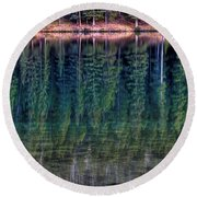 Shimmering Green Round Beach Towel