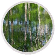 Shimmering Reflection Round Beach Towel