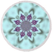 Shimmering Snowflake Round Beach Towel
