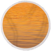 Shimmering Surface Round Beach Towel