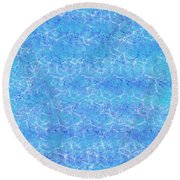 Shimmering Water Round Beach Towel