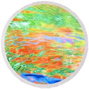 Shine Through Round Beach Towel