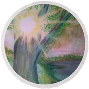 Shine Thru Round Beach Towel