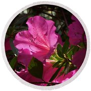 Shining Azalea Round Beach Towel