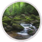 Shining Creek Round Beach Towel