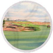 Shinnecock Hills Golf Course Round Beach Towel by Bill Holkham