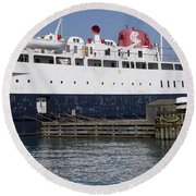 Ship Round Beach Towel