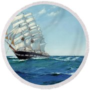 Ship Waimate Round Beach Towel