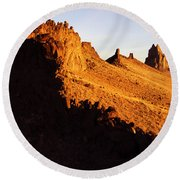 Shiprock New Mexico 2 Round Beach Towel