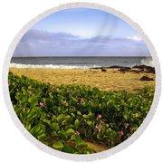 Shipwreck Beach Round Beach Towel