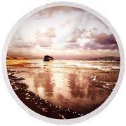Shipwrecked 2 Round Beach Towel