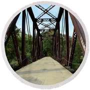 Shirley Railroad Bridge 1 Round Beach Towel