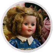 Shirley Temple Doll Round Beach Towel