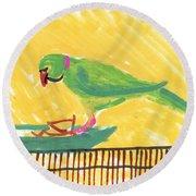 Shirley's Bird Round Beach Towel