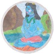Shiva  Round Beach Towel
