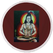 Shiva Round Beach Towel