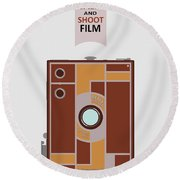 Shoot Film Round Beach Towel