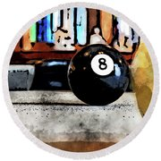 Shooting For The Eight Ball Round Beach Towel