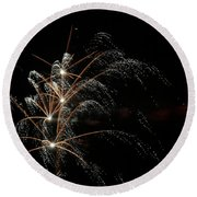 Shooting Stars Round Beach Towel by Phill Doherty
