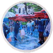 Shopping Montmartre Round Beach Towel