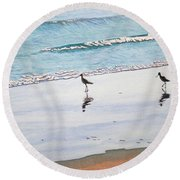 Shore Birds Round Beach Towel