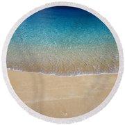 Shoreline To Horizon Round Beach Towel