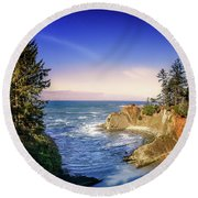 Shores Acres Cove Round Beach Towel