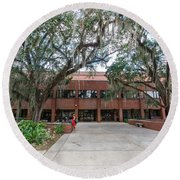 Shores Building At Florida State University Round Beach Towel