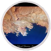 Shores Of Lake Mead Planet Art Round Beach Towel
