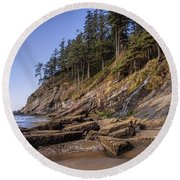 Short Sands Waterfall Round Beach Towel