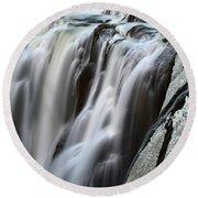 Shoshone Falls Close Up Round Beach Towel