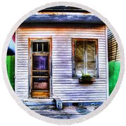 Shotgun House Number 3 Round Beach Towel