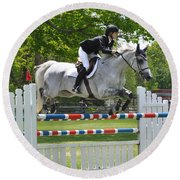 Show Jumper Round Beach Towel