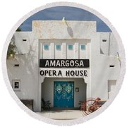 Show Tonight Amargosa Opera House Round Beach Towel