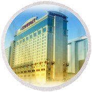 Showboat Casino - Atlantic City Round Beach Towel