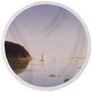Shrewsbury River - New Jersey Round Beach Towel