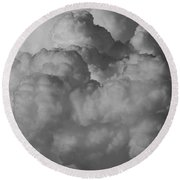 Shrimp Clouds Round Beach Towel