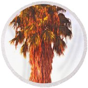 Shrouded In The Past 2 Round Beach Towel