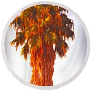 Shrouded In The Past 3 Round Beach Towel