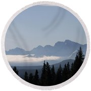 Shrouded Valley Round Beach Towel