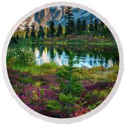 Shuksan Autumn Round Beach Towel