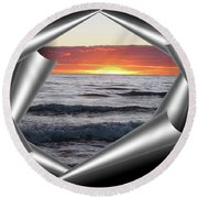 Shutter-view Round Beach Towel