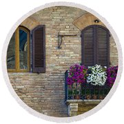 Shutters Round Beach Towel