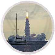 Shuttle Endeavour Round Beach Towel