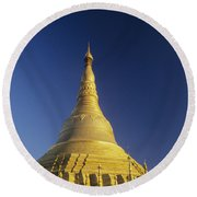 Shwedagon Paya Round Beach Towel