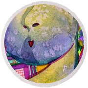 Shy Gal Round Beach Towel