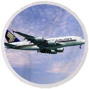 Sia A380 9v-ska Round Beach Towel