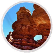Siamese Twins Natural Window Round Beach Towel