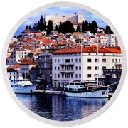 Sibenik Waterfront Round Beach Towel