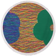 Siblings 2 Round Beach Towel